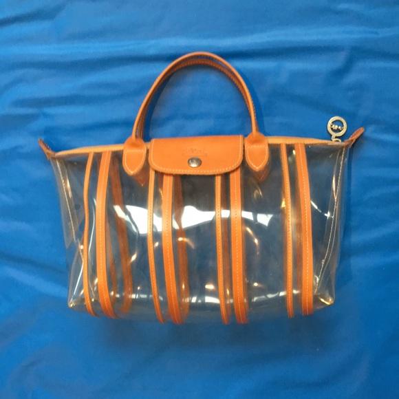 b7582065d10a Longchamp Handbags - Longchamp clear bag